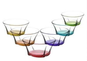6er Glasschalen Set   von LAV   mehrfarbig   Dessertschalen   Servierschalen
