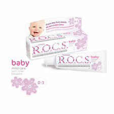 R.O.C.S. BABY Age 0-3 Mild Care Toothpaste with Lime Blossom 45ml 1.6 fl oz