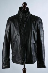 Strellson Classic Leather Jacket Size XL