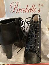 Breckelle's Women Blazer Ankle Boot Stiletto Platforms Heels Sz 10 New W/box