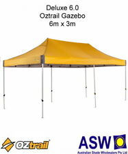 6m x 3m Oztrail Gazebo DELUXE 6.0 YELLOW Instant Fold Marquee Pavilion G-OZD6.0