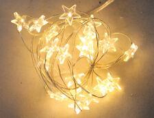 Led-Serie luminosa MICRO STELLE 4 SET A 20 luci colore luce bianco caldo