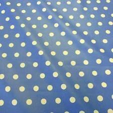 Stoff Meterware Baumwolle beschichtet wasserdicht Punkte 1,7 cm blau weiß Neu