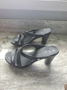 Crocs Womens Cypress IV Heels Black 14558 Size 8 M