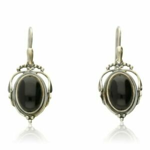 GEORG JENSEN 2017 HERITAGE EARRINGS BLACK ONYX.  Ref: 10001162