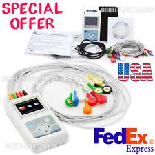 12 Canales ECG Holter 24 Horas Dynamic EKG Analyzer USB Software TLC5000