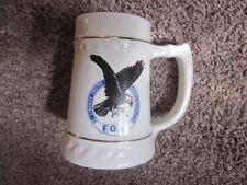 Vintage GILT Decorated BINGHAMTON NY F.O.E. Eagles mug made in USA
