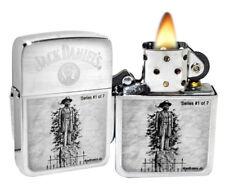 Zippo 28736 Jack Daniels Scenes From Lynchburg # 1 Brushed Chrome Lighter NEW