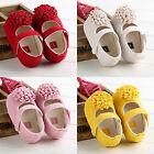 Flower Soft Sole Baby Shoes Toddler Infant Girl Crib Shoes Trainer Prewalker New