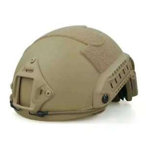 ARMY UHMW-PE BALLISTIC HELMET BULLET PROOF LVL IIIA LARGE SIZE DESERT TAN COLOR