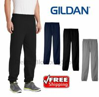 Mens Gildan Sweatpants Casual Gym Workout Sports Active Solid Jogger Pants 18200