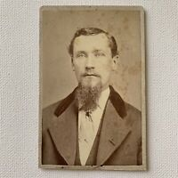 Antique CDV Photograph Victorian Handsome Young Man Goatee Minneapolis, MN