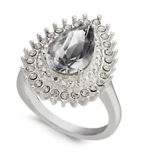 Pear Ring, Size 7 Jd52 Charter Club Nwt Silver-Tone Cubic Zirconia