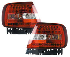 Back Rear Tail Lights Lamps Replace Red-Clear LED Pair For Audi A4 B5 11/94-9/00