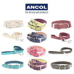 Ancol Dog Collar & Lead Indulgence Designer Leather Matching Sold Separately