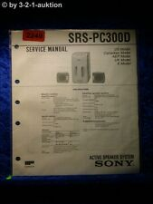 Sony Service Manual SRS PC300D (#2249)
