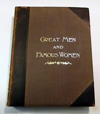 Antique leather Great Men and Famous Women 1894 Vol IV Artists Authors  Hess