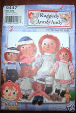 SIMPLICITY SEWING PATTERN #9447- RAGGEDY ANN/ANDY DOLLS  - OUT OF PRINT