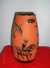 Ceramic vase from Vietnam-Brown with Black Paint-Ritz Decor/s19