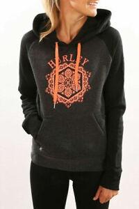 Special**Hurley**Womens Graphic Fleece Pullover Hoodie Sweatshirt Jumper XS S