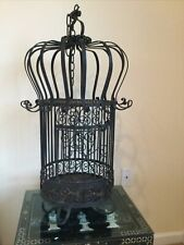 Vintage Ornate Wrought Iron 34� H X 12�W Domed Scrolled