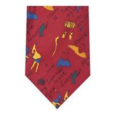 Corbata De Seda Estampada Shakespeare juega Rojo-Para Hombre Corbata de Fiesta Boda Informal