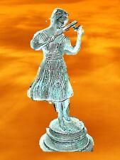 Eisen Figur Skulptur Geigerin Antik Vintage Musikantin 24 cm Geschenk Orchester