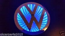 BLUE Logo VW Volkswagen Badge Light Led Emblem 3d self Adhesive