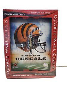 """Cincinnati Bengals NFL Quartz Wall Clock 10"""" x 12""""  NIB resin, battery operated"""