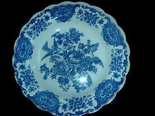 Ridgway 'Windsor' Blue / White 9 3/4  inch Rimmed Bowl (3 available)