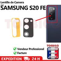 Lentille + Adhésif Verre Caméra d'Appareil Photo pour SAMSUNG GALAXY S20 FE