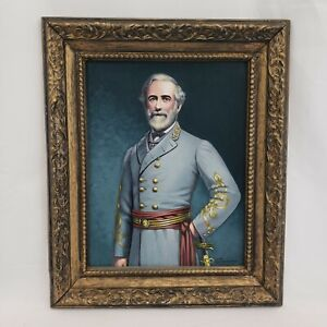 General Robert E. Lee - Original 11 X 14 Oil Painting - J Tomshack 1990 Framed