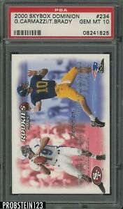 2000 Skybox Dominion #234 Tom Brady New England Patriots RC Rookie PSA 10