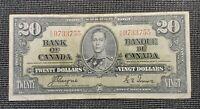 Canada 1937 Coyne Towers BC-25c $20.00 Banknote KE 9733755
