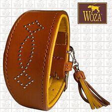 WOZA Premium Windhundhalsband Vollleder Greyhound Rindnappaleder Collar HG42181
