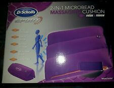Dr. Scholl's DRMA8006B1 2-in-1 E Massaging Cushion with Microbeads, Purple
