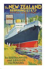 ROYAL mail line VINTAGE boat travel poster 24X36 SOUTHAMPTON PANAMA hot RARE