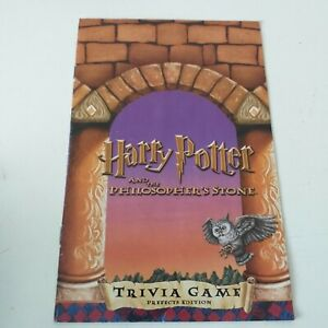 Harry Potter & The Philosophers Stone Trivia Game Prefects Edition - Spare Parts