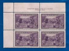 CANADA 1949 HALIFAX four 4 cent postage stamp corner block MNH plate 2