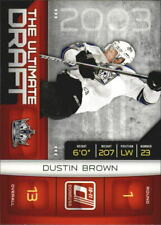 2010-11 Donruss The Ultimate Draft #11 Dustin Brown - NM-MT