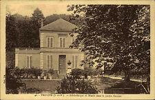 Provins Frankreich Postkarte 1943 Bibliothèque et Musée dans le Jardin Garnier