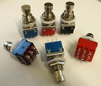 3PDT Foot Switch Effects Pedal True bypass Switch PCB MOUNT SOLDER LUG Colours