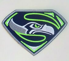 """Seattle Seahawks Embroidered 3.5"""" Iron On Patch"""