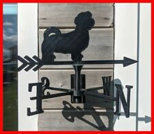 More details for shih tzu dog acrylic garden weather vane wall, pole or post mounted