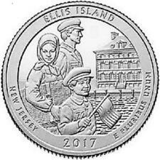 2017 - ELLIS ISLAND NATIONAL MONUMENT - BU MINT QUARTERS - 2 COIN  SET  -  P D