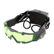 Green Lens Adjustable Elastic Band Night Vision Goggles Glasses eyeshield VE