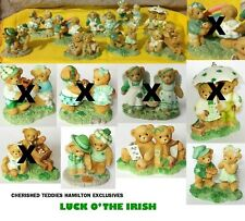 CHERISHED TEDDIES IRISH USA/HAMILTON EXCLUSIVE, SOLD INDIVIDUALLY, NEW CONDITION