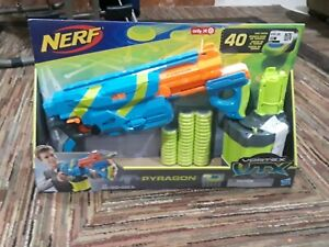 NERF Vortex VTX Pyragon Blaster Rifle w/ 40 Disc Drum E2331 AV30 by Hasbro NEW