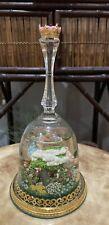 "1991 Franklin Mint "" Cinderella's Enchanted Moment "" Gold Crystal Snowglobe Bell"