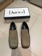 Aquila Beige Suede Loafers Shoes Size 46/ UK 11.5